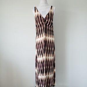 Mixit Brown and Tan Maxi Dress Women's Large